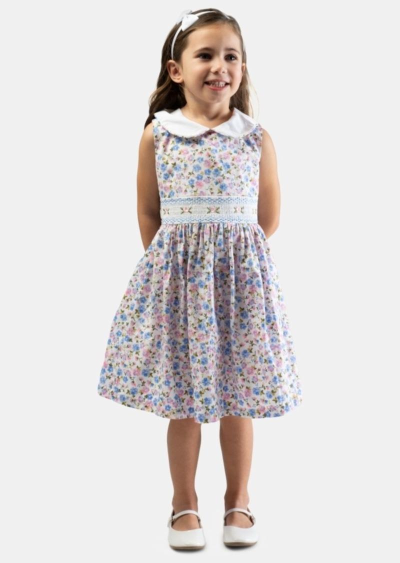 Bonnie Jean Toddler Girls Smocked Floral-Print Dress