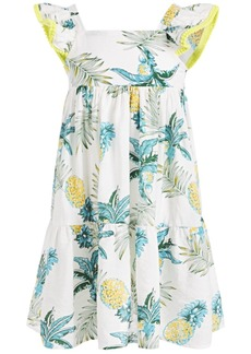 Bonnie Jean Toddler Girls Tropical-Print Textured Maxi Dress