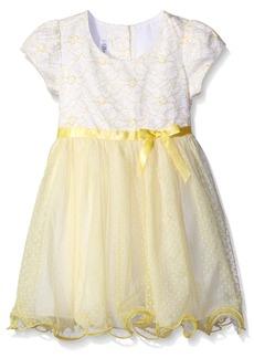 Bonnie Jean Toddler Girls Short Sleeve Side Sash Ballerina Party Dress