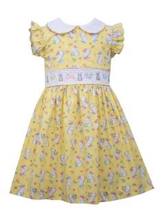 Bonnie Jean Toddler Girls Flutter Sleeved Bunny Print Dress