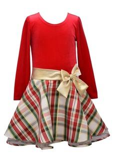 Bonnie Jean Little Girls Plaid Drop Waist Dress