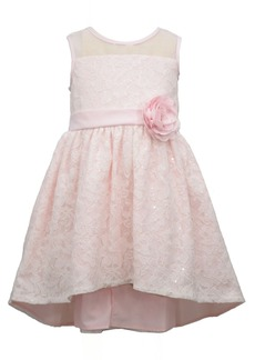 Bonnie Jean Little Girls Sleeveless Sequin Lace High Low Dress