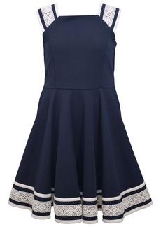 Bonnie Jean Little Girls Textured Knit Skater Dress