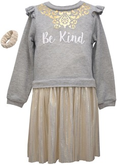 "Bonnie Jean Toddler Girls 2 Piece ""Be Kind"" Boudre Dress Set"