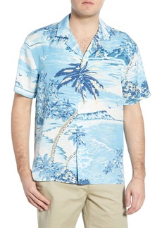 Bonobos Cabana Slim Fit Island Print Button-Up Camp Shirt