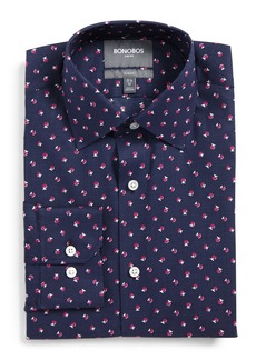 Bonobos Cherry Slim Fit Stretch Floral Dress Shirt