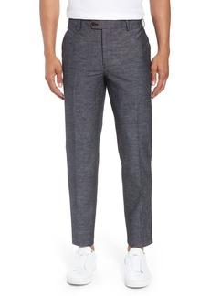 Bonobos Flat Front Solid Stretch Cotton & Linen Pants