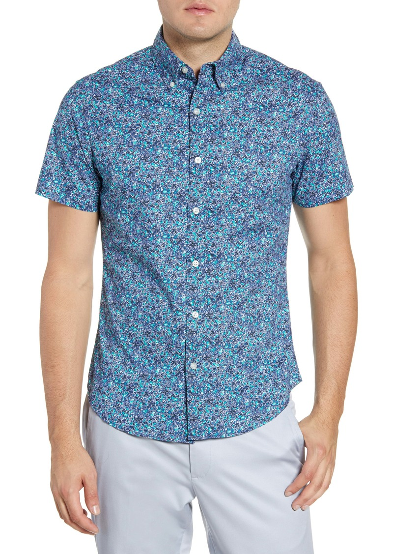Bonobos Riviera Slim Fit Floral Short Sleeve Button-Down Shirt