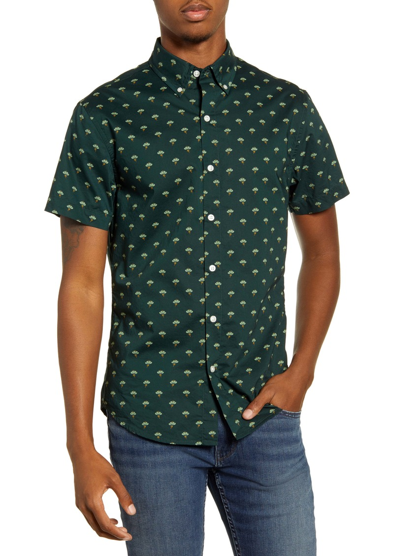 Bonobos Riviera Slim Fit Floral Short Sleeve Button-Down Sport Shirt