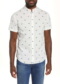 Bonobos Riviera Slim Fit Frog Print Short Sleeve Button-Down Shirt