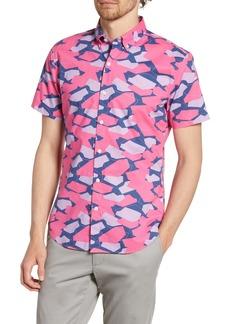 Bonobos Riviera Slim Fit Geo Print Short Sleeve Button-Down Shirt