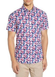 Bonobos Riviera Slim Fit Ginkgo Short Sleeve Button-Down Shirt