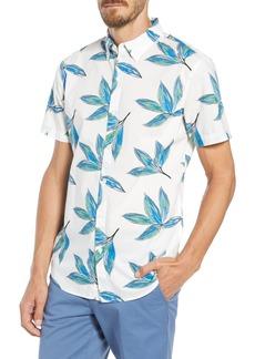 Bonobos Riviera Slim Fit Leaf Print Sport Shirt