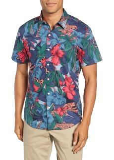Bonobos Riviera Slim Fit Leopard Floral Sport Shirt
