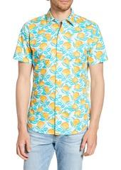 Bonobos Riviera Slim Fit Orange Print Shirt