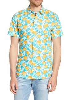 Bonobos Riviera Slim Fit Orange Print Shirt