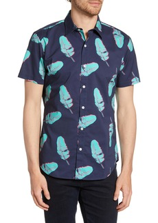 Bonobos Riviera Slim Fit Pop Leaf Surf Print Shirt