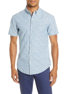 Bonobos Riviera Slim Fit Print Chambray Short Sleeve Button-Down Shirt