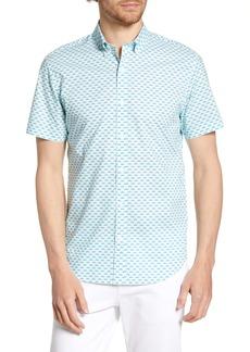 Bonobos Riviera Slim Fit Rainbow Geo Print Shirt
