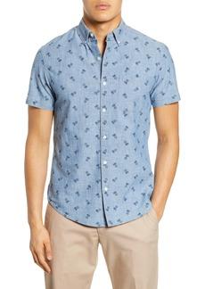 Bonobos Riviera Slim Fit Short Sleeve Button-Down Chambray Shirt