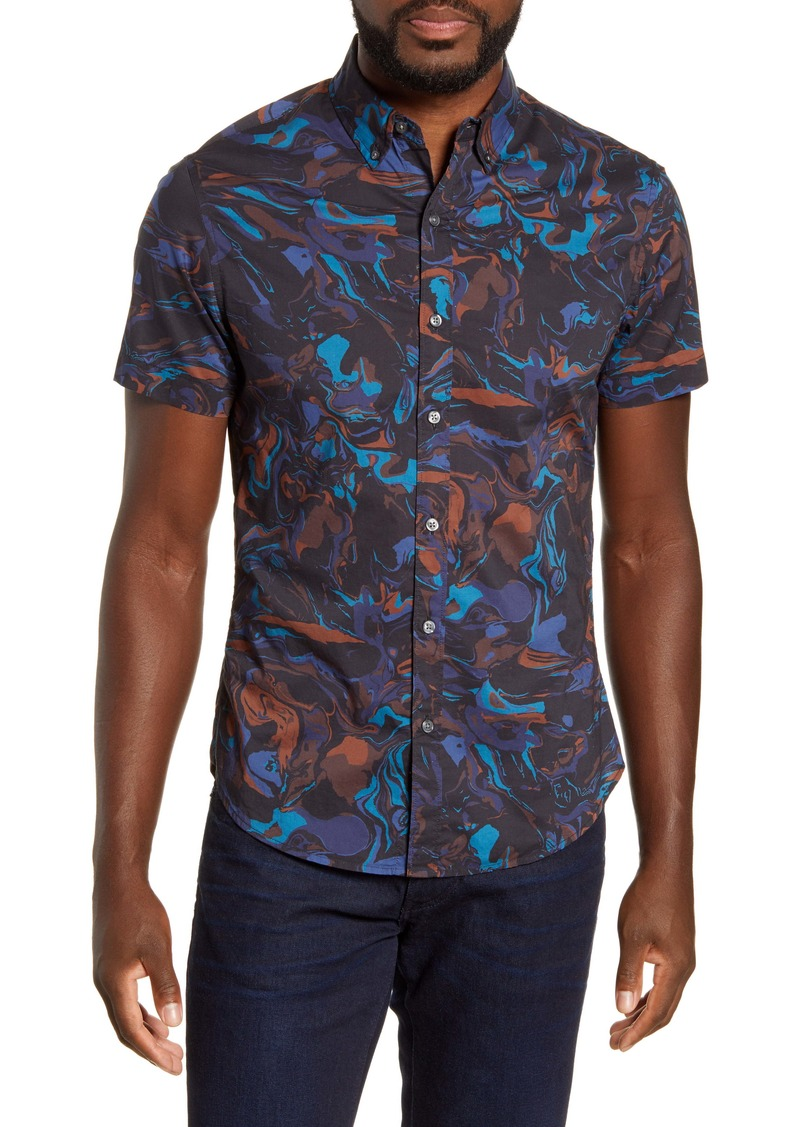 Bonobos Riviera Slim Fit Short Sleeve Button-Down Shirt