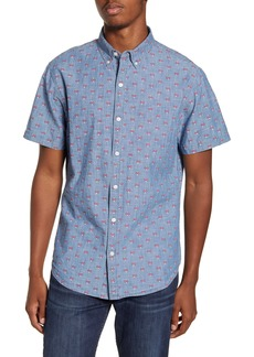 Bonobos Riviera Slim Fit Short Sleeve Button-Down Sport Shirt