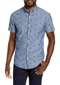 Bonobos Riviera Slim Fit Short Sleeve Chambray Button-Down Shirt