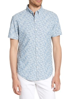 Bonobos Riviera Slim Fit Sketch Wave Print Shirt