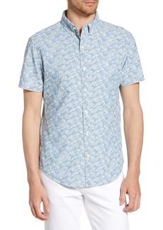 Bonobos Riviera Slim Fit Sketch Wave Print Shirt