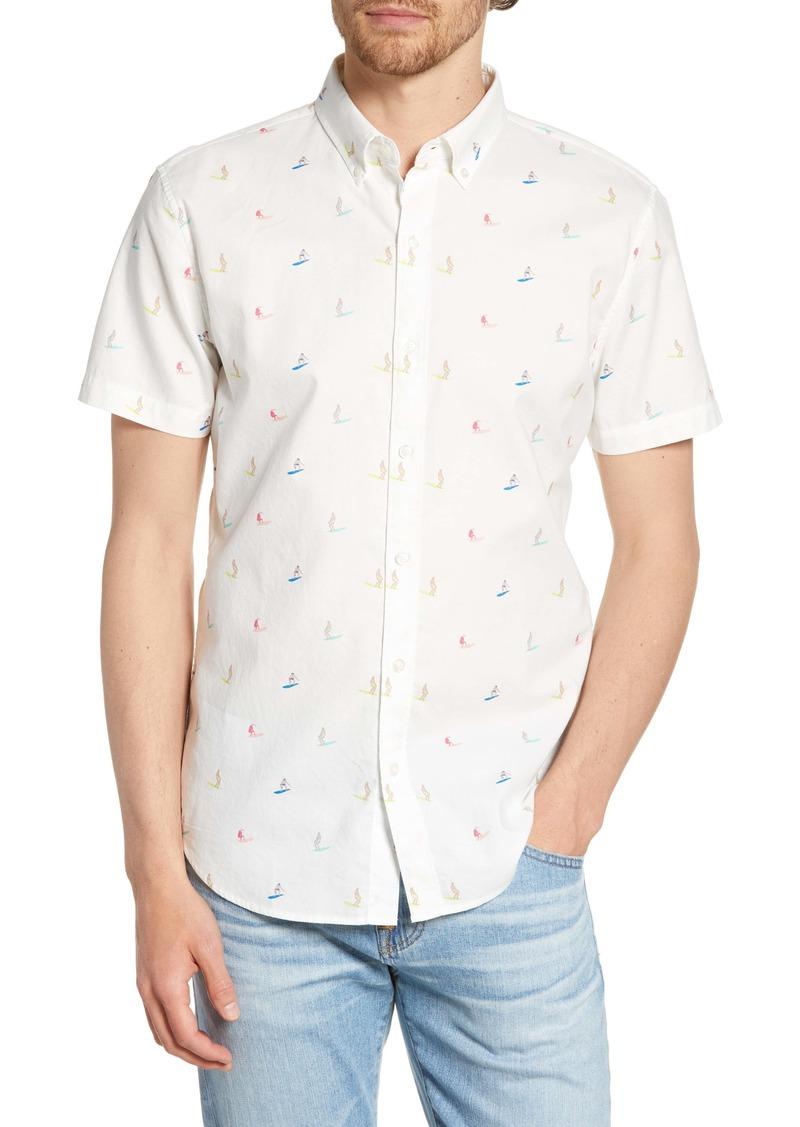 Bonobos Riviera Slim Fit Surfer Flamingo Print Shirt