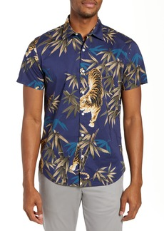 Bonobos Riviera Slim Fit Tiger Print Sport Shirt
