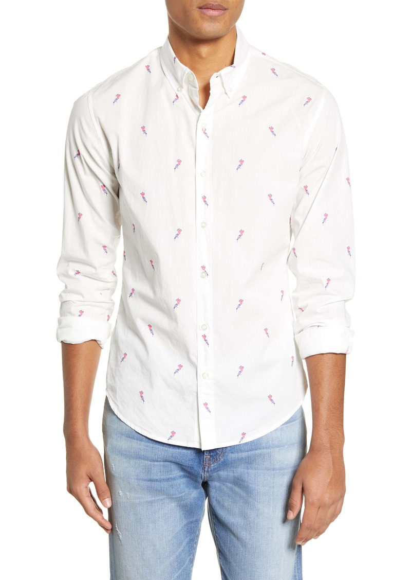 Bonobos Slim Fit Bird Print Button-Down Shirt