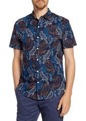 Bonobos Slim Fit Bird Print Short Sleeve Button-Up Shirt