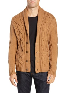 Bonobos Slim Fit Cable Shawl Collar Cardigan