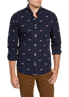 Bonobos Slim Fit Dinosaur Button-Down Washed Cotton Shirt
