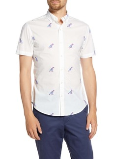 Bonobos Slim Fit Dinosaur Short Sleeve Button-Down Shirt