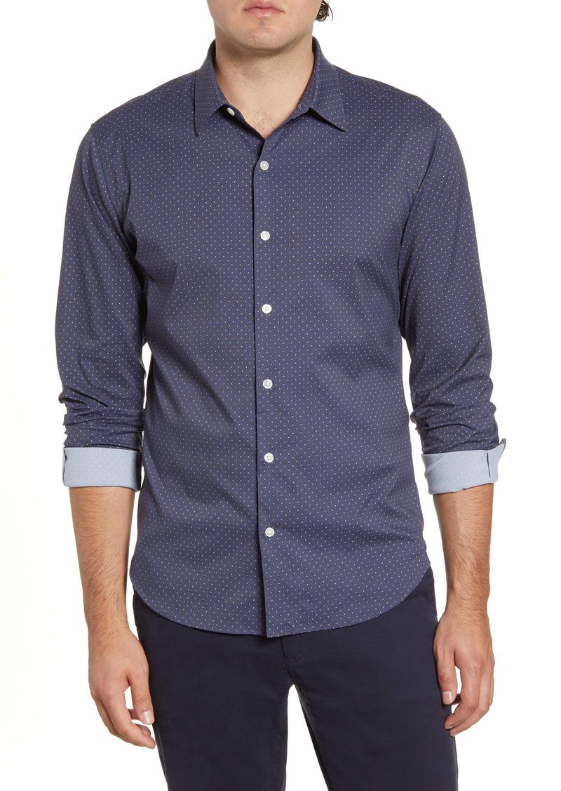 Bonobos Slim Fit Dot Tech Button-Up Sport Shirt