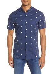 Bonobos Slim Fit Flamingo Print Button-Up Shirt