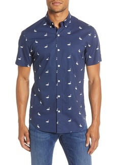 Bonobos Slim Fit Flamingo Print Button-Up Shirt