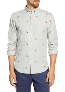 Bonobos Slim Fit Giraffe Print Button-Down Shirt