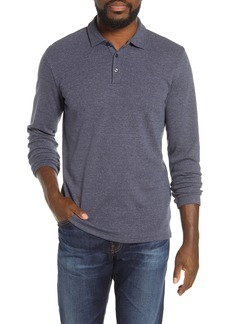 Bonobos Slim Fit Long Sleeve Herringbone Polo