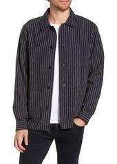 Bonobos Slim Fit Neppy Stripe Linen Blend Shirt Jacket