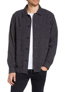 Bonobos Slim Fit Neppy Stripe Linen Blend Shirt Jacket