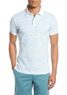 Bonobos Slim Fit Palm Print Piqué Polo