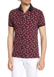Bonobos Slim Fit Pineapple Print Piqué Polo