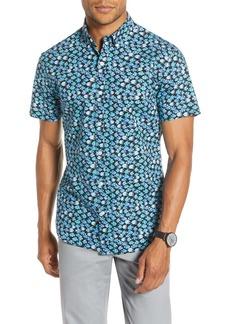 Bonobos Slim Fit Print Short Sleeve Button-Down Shirt