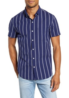 Bonobos Slim Fit Seersucker Stripe Short Sleeve Button-Down Shirt