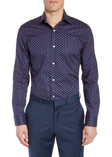 Bonobos Slim Fit Stretch Rosebud Print Dress Shirt