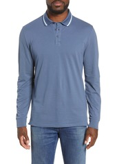 Bonobos Slim Fit Tipped Long Sleeve Piqué Polo