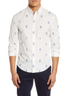 Bonobos Slim Fit Washed Astronaut Print Button-Down Shirt